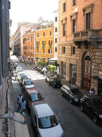 Locanda del Sole Luxury Suite Rome: View from our bedroom window - you feel as though you're living here