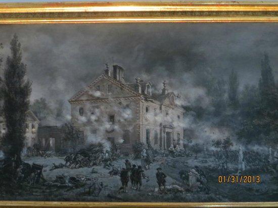 Cliveden: An artist's interpretation of the Battle of Germantown