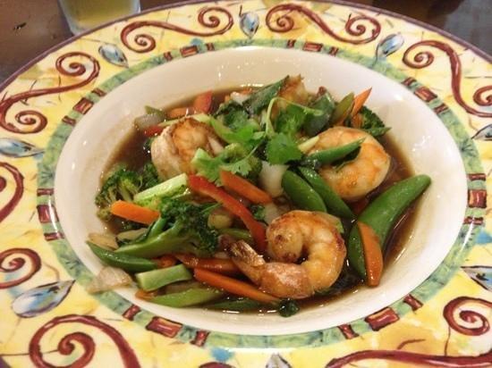 Esaan Thai Restaurant: Shrimp stir fry