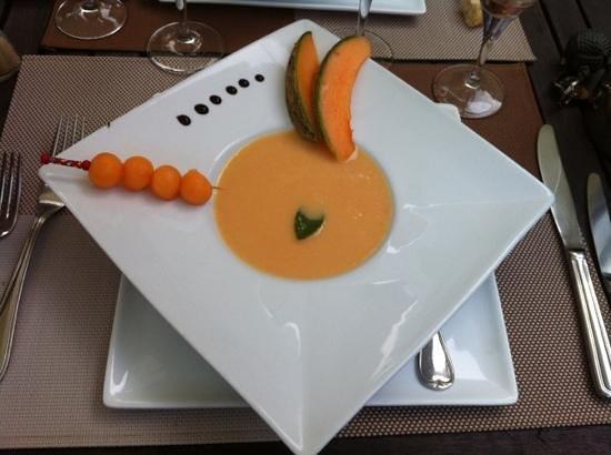 L'Auberge de Combreux : Soupe de melon et gingembre
