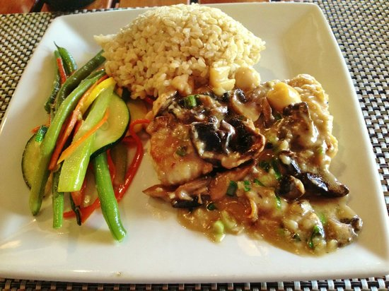 Mahi and mushrooms for Uncle s fish market grill