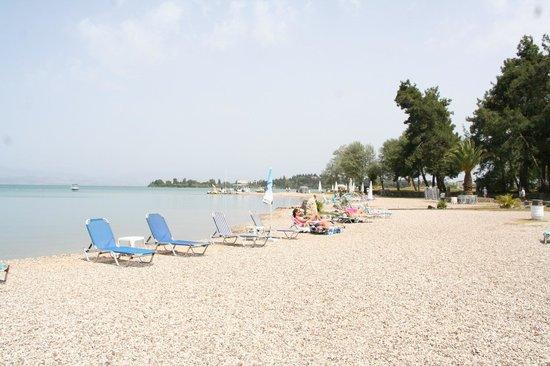 Iliada Beach Hotel : Vu de la mer du bar de l'hôtel