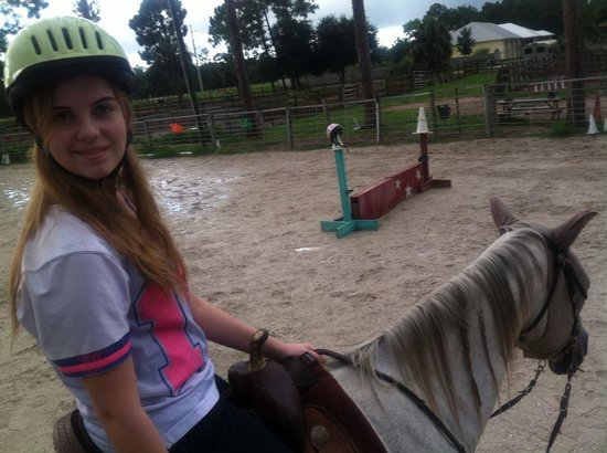 Rockin' N Stables: My daughter and Grey