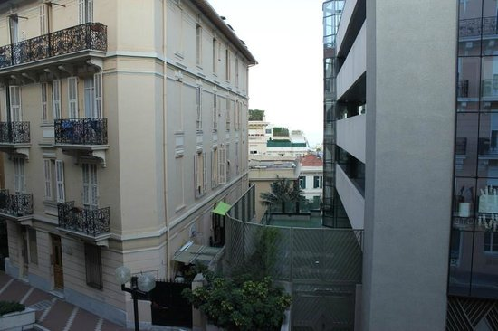 Hotel Capitole: view from room looking straight