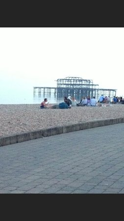 The Granville Hotel: West pier beach outside hotel