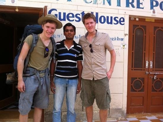 Residency Centre Point Guest House and Desert Safari : outside the guesthouse with Dheeraj