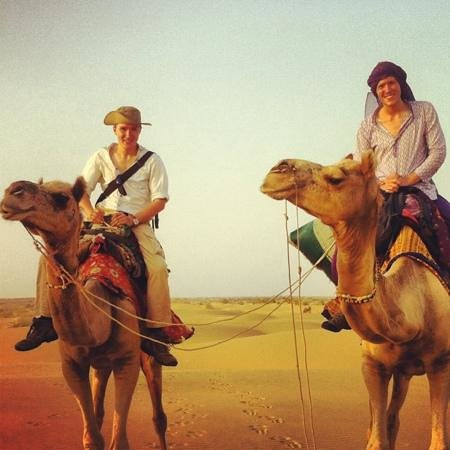 Residency Centre Point Guest House and Desert Safari : camel safari organise by residency centre point