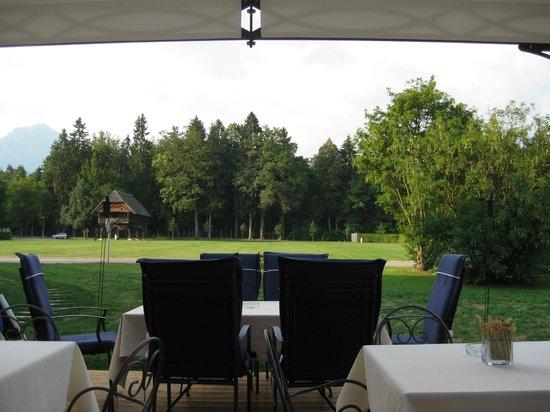 Hotel Brdo: Blick von der Restaurantterrasse