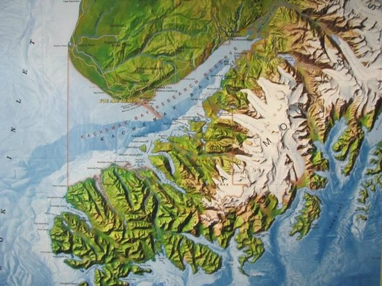 A Nice Map And 3d Model Of The Kachemak Bay Picture Of Alaska
