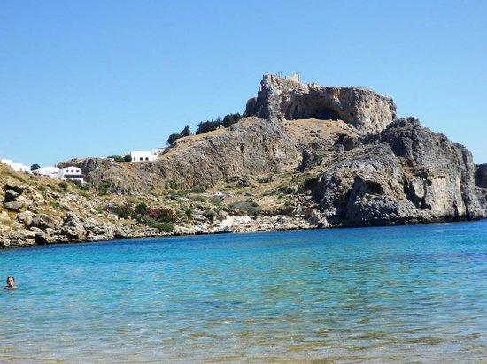 Agios Pavlos Beach (Saint Paul): Akropolis von Lindos
