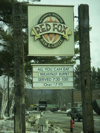 Red Fox Bar & Grille : The sign
