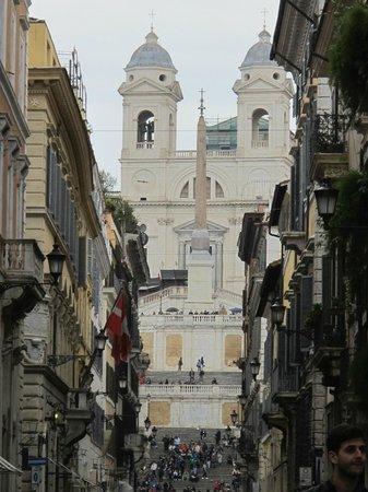 East of Via del Corso, down Via Condotti to the Spanish Steps