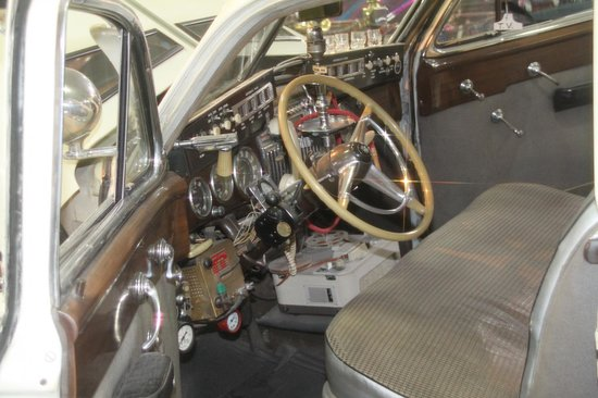 San Diego Automotive Museum: 1947 Cadillac, Louie Mattar's record-breaking car, full of gadgets