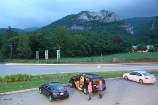 An Evening View of Seneca Rocks from the Front Porch Restaurant