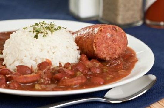 SmokeHouse BBQ & Saloon: SPICY CAJUN RED BEANS & RICE W/ ANDOUILLE