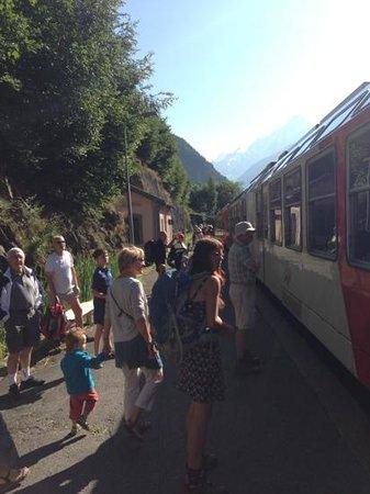 Gite Tupilak Les Meandres : Les Houches train station are a 15 mins walk away.