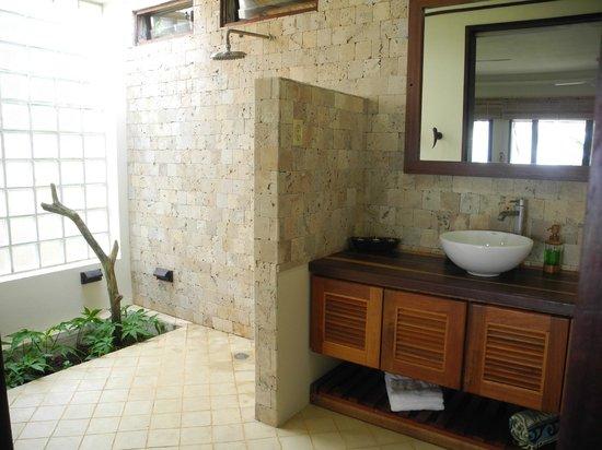 Beautiful Open Bathrooms With Sliding Door And Water Closet