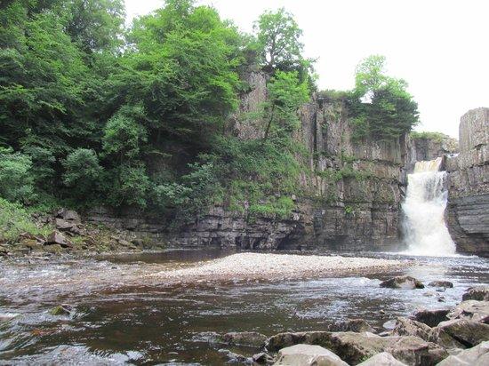 High Force Waterfall: high summer
