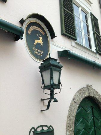 Hotel Goldener Hirsch, a Luxury Collection Hotel, Salzburg: Outside the restaurant