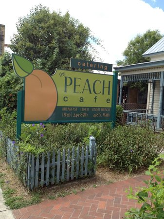 Peach Tree Cafe: Sign from street