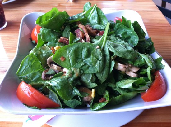 The Uptown Cafe: Sesame ginger spinach salad