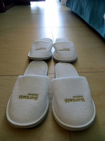 Barcelo Bavaro Palace: complimentary slippers