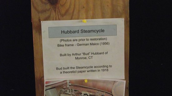 Connecticut Antique Machinery: steam motorcycle