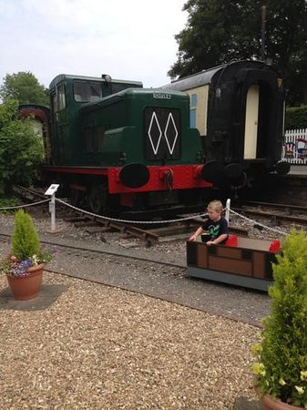 Devon Railway Centre: the kids 'drive your own' train was a favourite!! great fun.