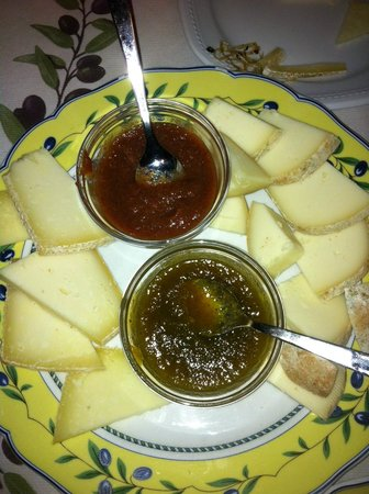 Ristorante Il Grembo : formaggi e confetture di zucchine e cachi