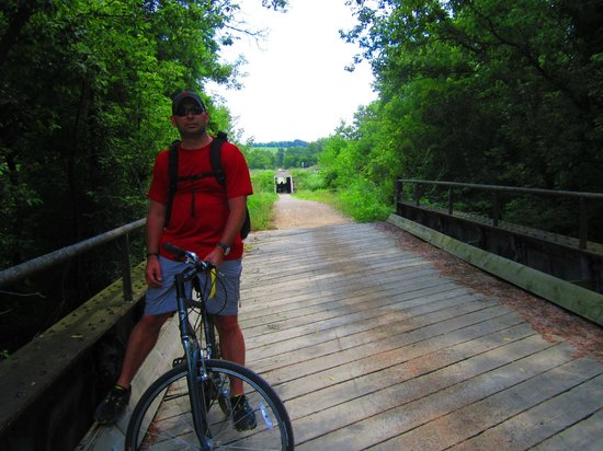 Elroy-Sparta State Trail: A bridge on the trail