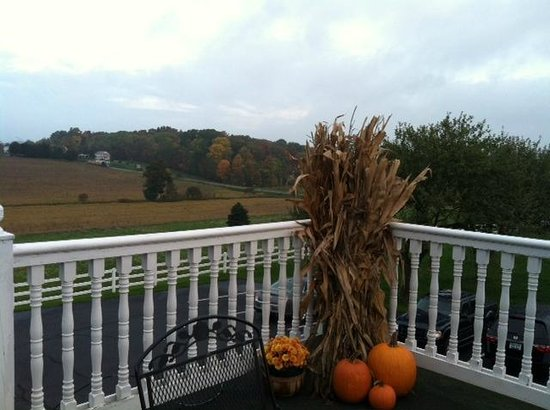 The Inn at Amish Door: View from the 2nd floor porch