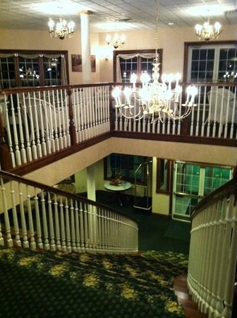 The Inn at Amish Door: View from the top of the grand staircase (there are elevators as well)
