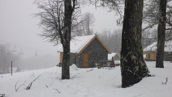 La Madriguera Lodge : cabania sobre la pista