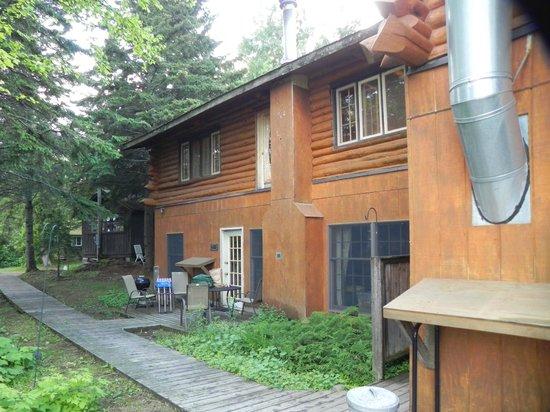 Solbakken on Superior: Back of lodge