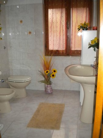 B&B Il Girasole: Il bagno della camera