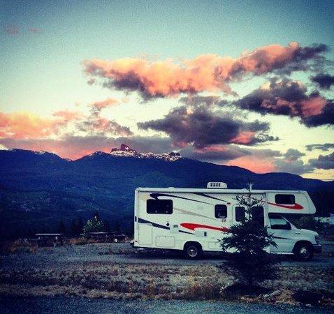 Whistler RV Park & Campgrounds: Sunset on Black Tusk