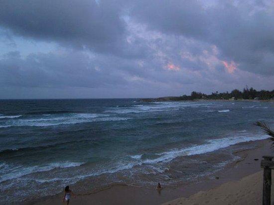 View of Jobos beach from Ocean Front Restaurant deck