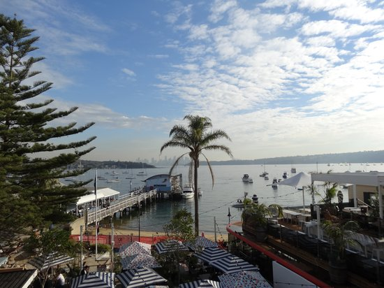 Watsons Bay Boutique Hotel : Harbour view from balcony of Room 108