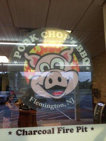 Pork Chop's BBQ: Storefront window