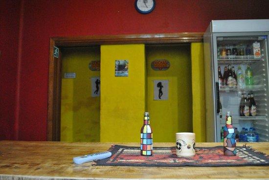 Tierrasoles Hostel : lugar de estar: tv- compu- comedor