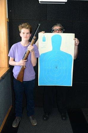 Yellowstone Big Gun Fun: Neat grouping - burglar beware !!