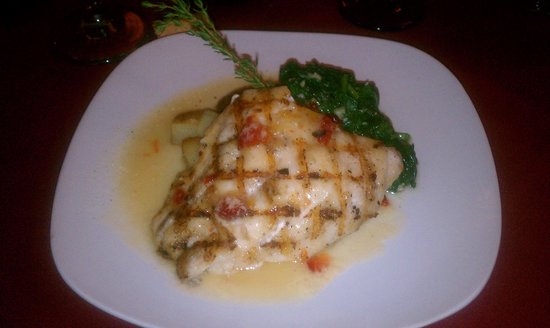 Riviera Supper Club : Fresh Grouper entree before I dived in!