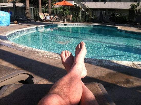 Vagabond Inn Ventura: Chillin at the pool.