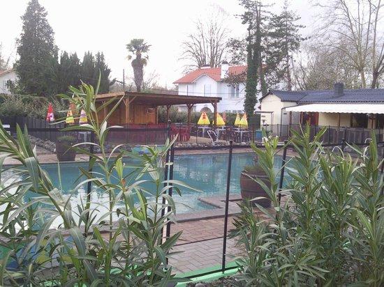 Camping Le Terrier : en face de la piscine