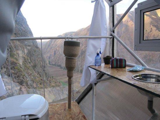 Urubamba, Pérou : El baño .. y su vista ;)