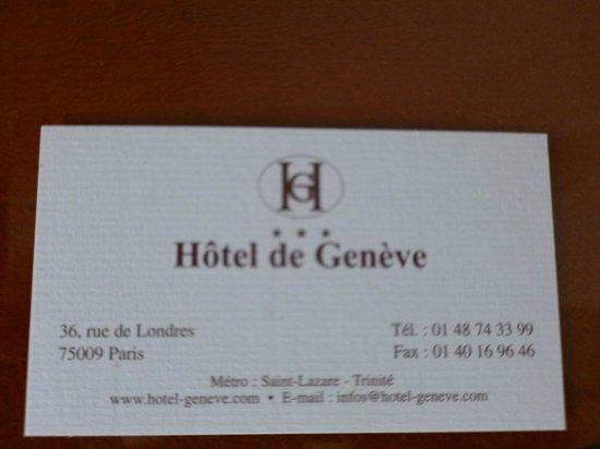 Hôtel de Genève : lindo