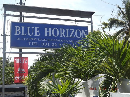 Hotel Sign Board Picture Of Blue Horizon Guest House