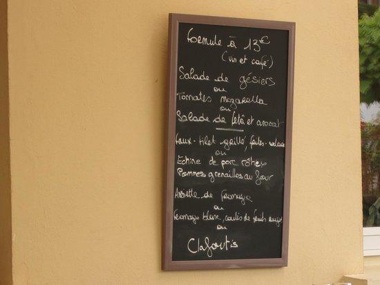 Auberge les Vignes : 13 euros menu