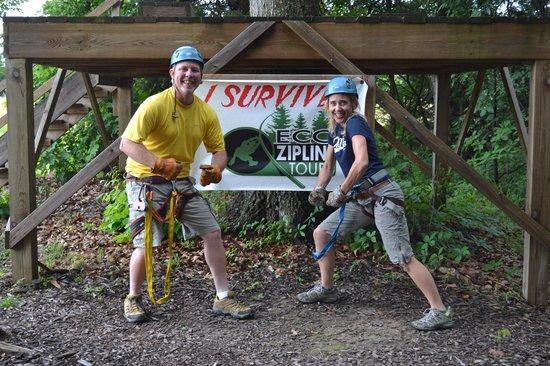 Eco Zipline Tours: Zipline fun - we conquered!