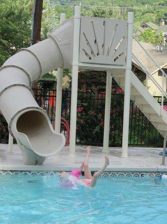 Jack Huff's : Kids water slide in the pool area